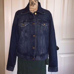 Michael Kors distressed denim jean jacket